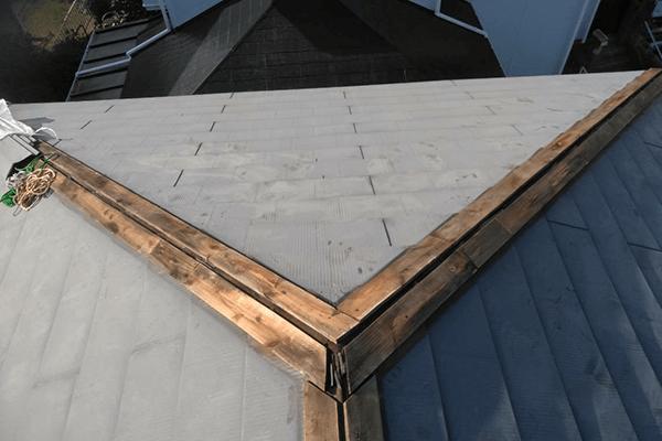 棟板金の撤去