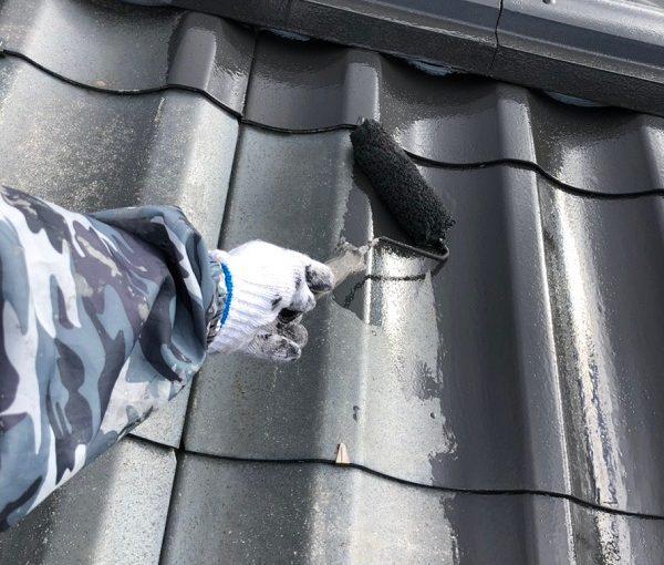 東京都小平市 屋根塗装 防水工事 ウレタン防水 密着工法