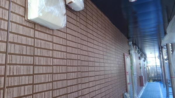 東京都東村山市 外壁塗装 アパート塗装 下地処理 高圧洗浄 オートンイクシード