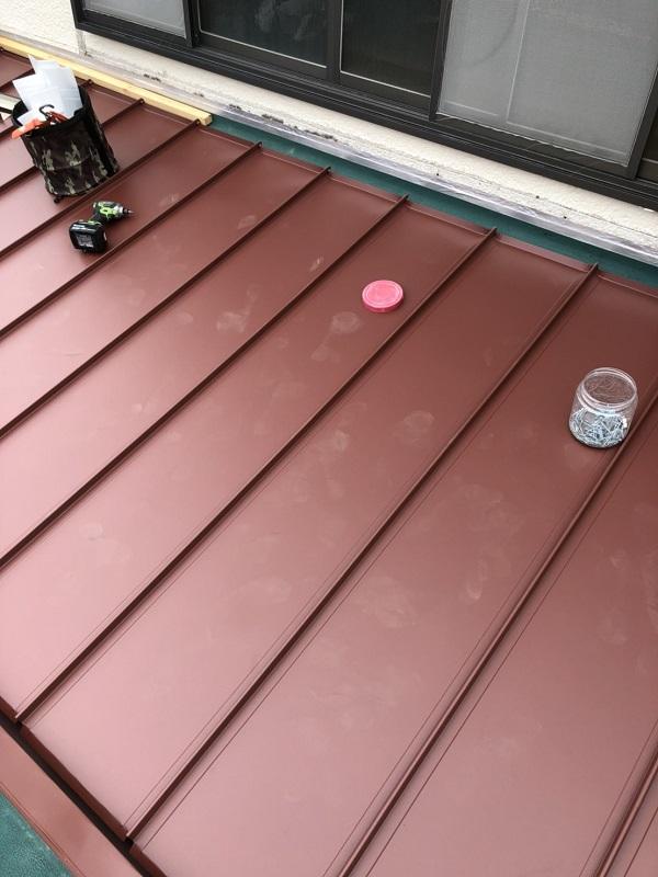 東京都東久留米市 屋根工事(屋根カバー工法・重ね葺き) ガルバリウム鋼板