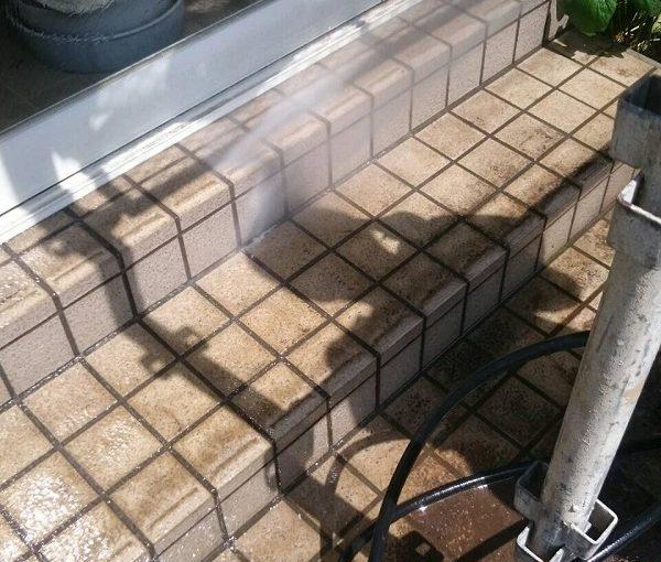 東京都清瀬市 外壁塗装 下地処理 高圧洗浄 エスケー化研 プレミアムシリコン ラジカル制御式