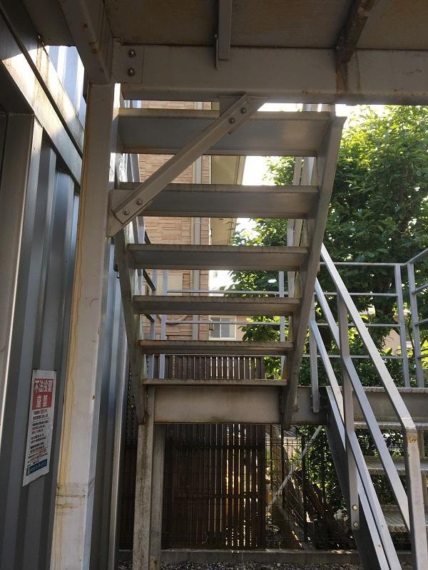 東京都東久留米市 外壁塗装 付帯部塗装 鉄骨階段 無料診断