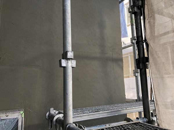 東京都東久留米市 外壁塗装 モルタル外壁 エスケー化研ミラクファンドKC-2000 3度塗り (4)