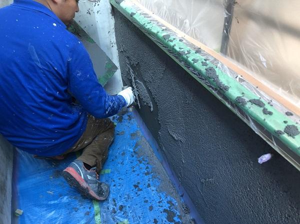 東京都東久留米市 外壁塗装 モルタル外壁 エスケー化研ミラクファンドKC-2000 3度塗り (8)