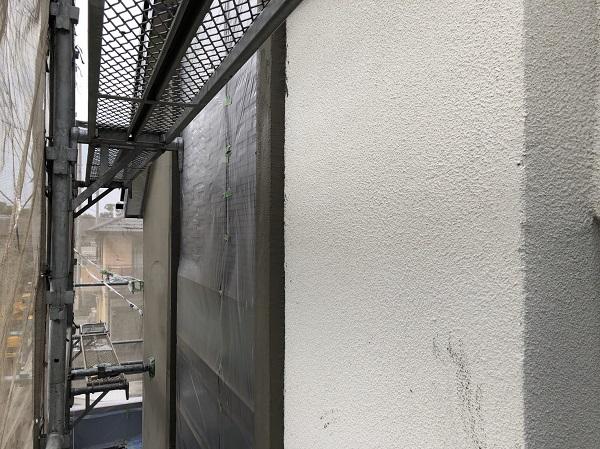東京都東久留米市 外壁塗装 足場設置 下地処理 高圧洗浄 養生 (2)
