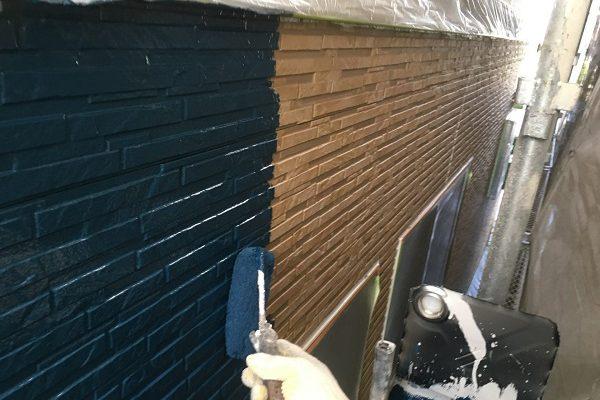 東京都東久留米市 外壁塗装 屋根塗装 防水工事 ローラー工法 RSルーフ液2F・RSシルバーグロスSi