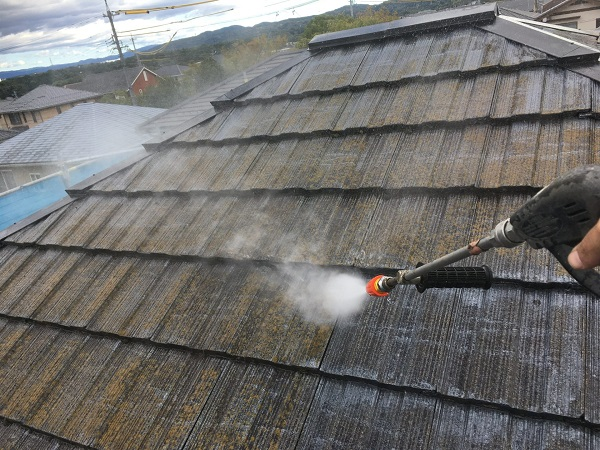 東京都東大和市 屋根塗装 近隣の方々へのご挨拶 下地処理 高圧洗浄作業