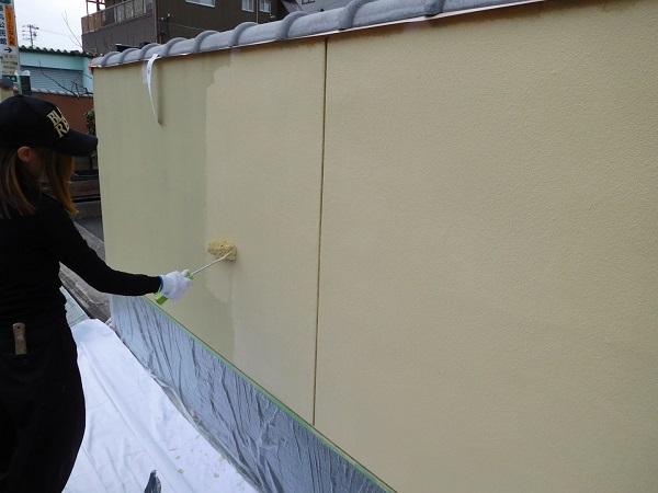 東京都東大和市 外構塗装 高圧洗浄の重要性 3度塗り
