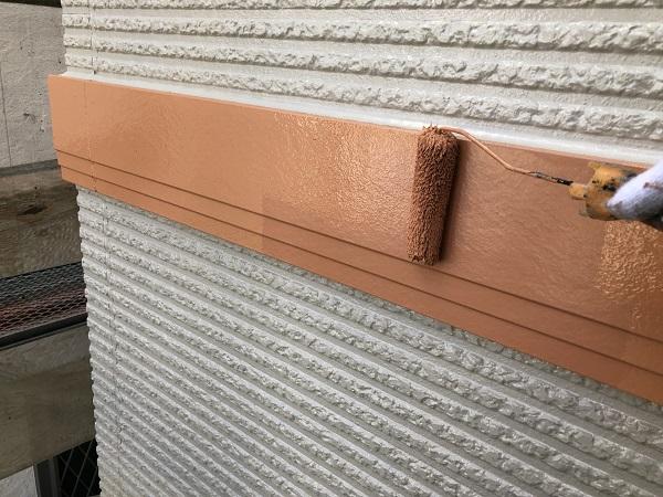東京都清瀬市 外壁塗装 屋根塗装 シャッターボックス・幕板・雨樋塗装 (7)