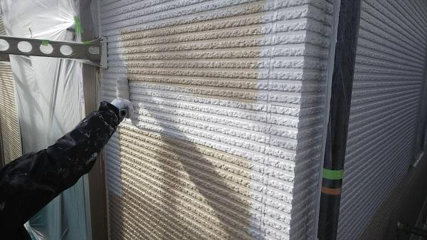 東京都清瀬市 外壁塗装 屋根塗装 外壁・軒天塗装 関西ペイント RSシルバーグロスSi 日本ペイント ケンエース (5)