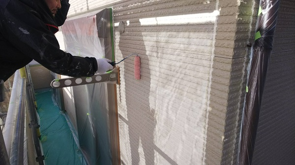東京都清瀬市 外壁塗装 屋根塗装 外壁・軒天塗装 関西ペイント RSシルバーグロスSi 日本ペイント ケンエース (4)