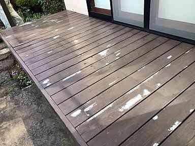 東京都東久留米市 ウッドデッキ塗装 塗装メンテナンスのサイクル 放置するとどうなるか (2)