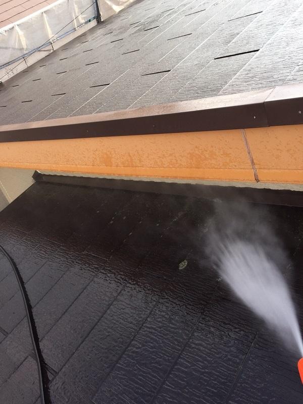 東京都清瀬市 外壁塗装 屋根塗装 チョーキング現象 高圧洗浄 (2)
