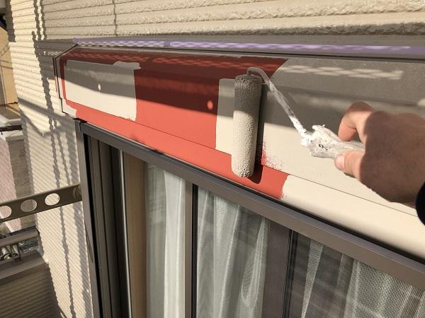 東京都清瀬市 外壁塗装 屋根塗装 シャッターボックス・幕板・雨樋塗装 (1)