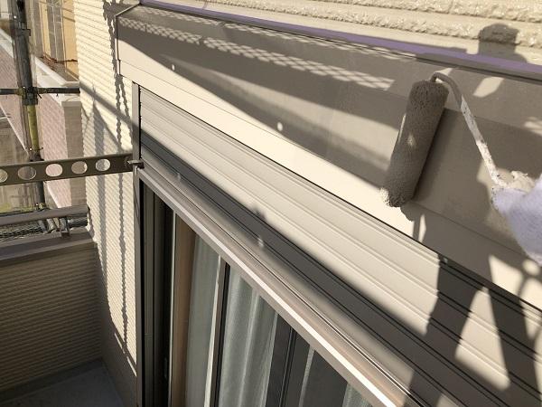 東京都清瀬市 外壁塗装 屋根塗装 シャッターボックス・幕板・雨樋塗装 (3)