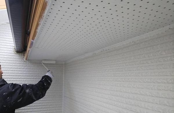 東京都清瀬市 外壁塗装 屋根塗装 外壁・軒天塗装 関西ペイント RSシルバーグロスSi 日本ペイント ケンエース (3)