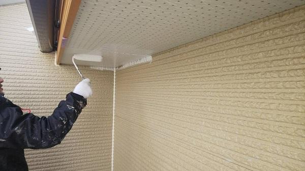 東京都清瀬市 外壁塗装 屋根塗装 外壁・軒天塗装 関西ペイント RSシルバーグロスSi 日本ペイント ケンエース (2)