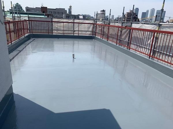 東京都小平市 防水工事 ウレタン防水 通気緩衝工法 完工 (1)