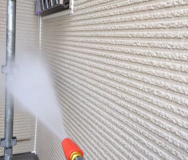 東京都清瀬市 外壁塗装 屋根塗装 チョーキング現象 高圧洗浄 (1)