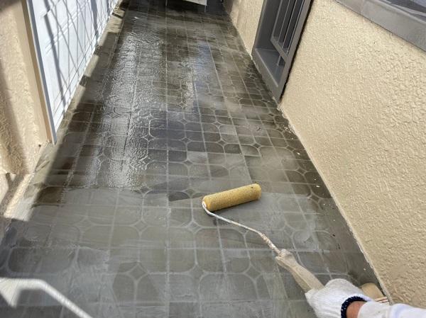 東京都東大和市 M様邸 防水工事 カチオンモルタル ウレタン防水 (4)