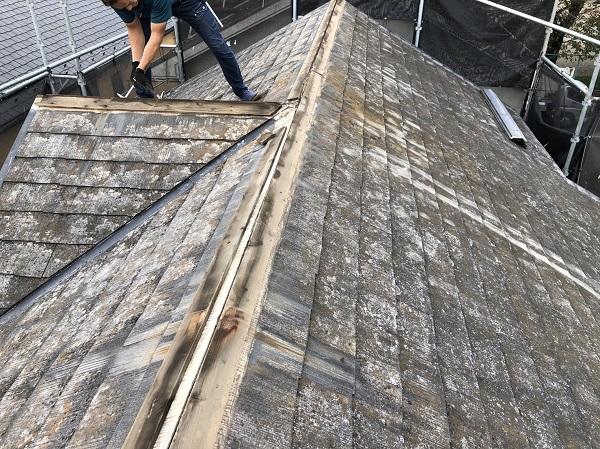 東京都東大和市 M様邸 棟板金交換工事 ガルバリウム製の棟板金 樹脂製の貫板 スクリュービス