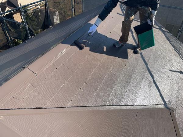 東京都東大和市 M様邸 屋根塗装 関西ペイント ヤネ強化プライマーEPO アレスクールシーラー RSルーフ2液F (8)