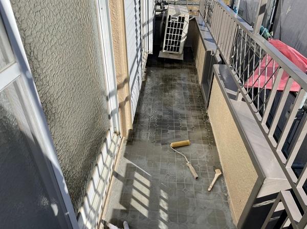 東京都東大和市 M様邸 防水工事 カチオンモルタル ウレタン防水 (3)