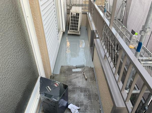 東京都東大和市 M様邸 防水工事 カチオンモルタル ウレタン防水 (6)