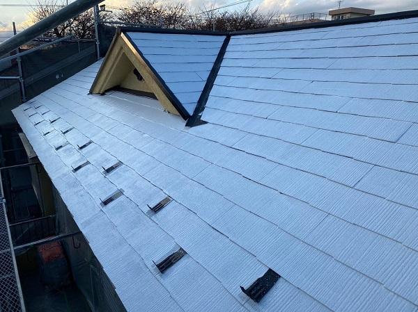 東京都東大和市 M様邸 屋根塗装 関西ペイント ヤネ強化プライマーEPO アレスクールシーラー RSルーフ2液F (4)