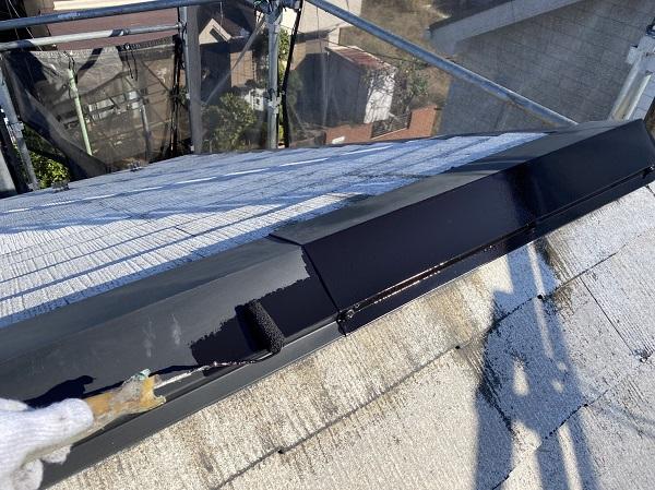 東京都東大和市 M様邸 屋根塗装 関西ペイント ヤネ強化プライマーEPO アレスクールシーラー RSルーフ2液F (6)