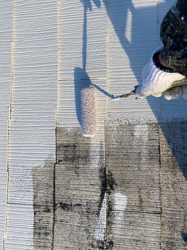 東京都東大和市 M様邸 屋根塗装 関西ペイント ヤネ強化プライマーEPO アレスクールシーラー RSルーフ2液F (7)
