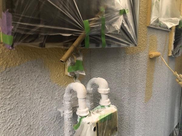 東京都東大和市 E様邸 外壁塗装 下地処理~下塗り 下地処理で仕上がりの8割が決まります!