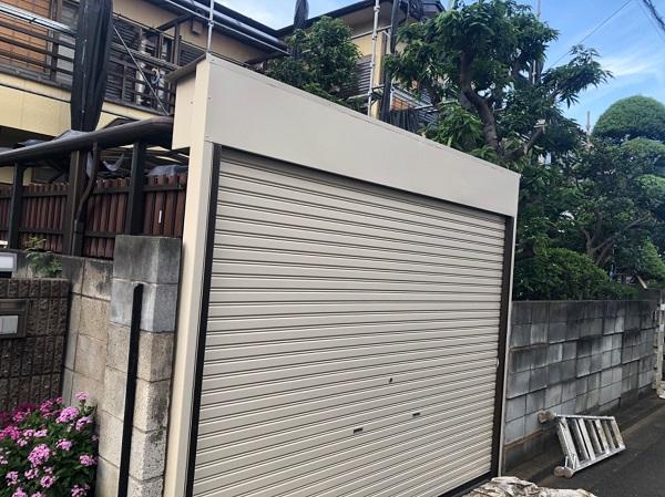 東京都東大和市 E様邸 外壁塗装・付帯部塗装 シャッター塗装 写真付き塗装の工程 (1)