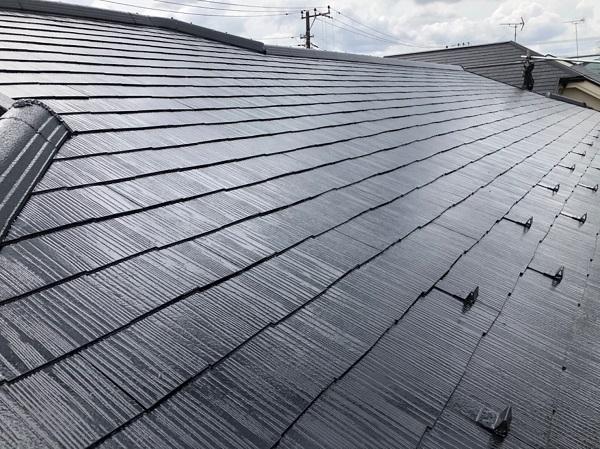 東京都東大和市 E様邸 屋根塗装 関西ペイント アレスクールシーラー RSルーフ2液F (2)