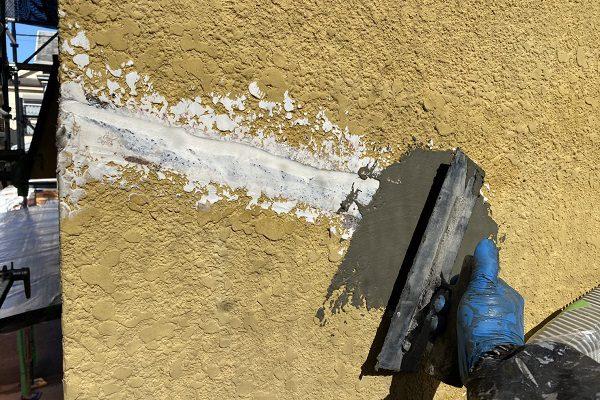 東京都東大和市 M様邸 外壁塗装・付帯部塗装 クラック補修 シーリング、左官による補修 (6)