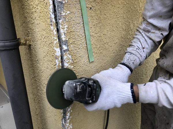 東京都東大和市 M様邸 外壁塗装・付帯部塗装 クラック補修 シーリング、左官による補修 (7)