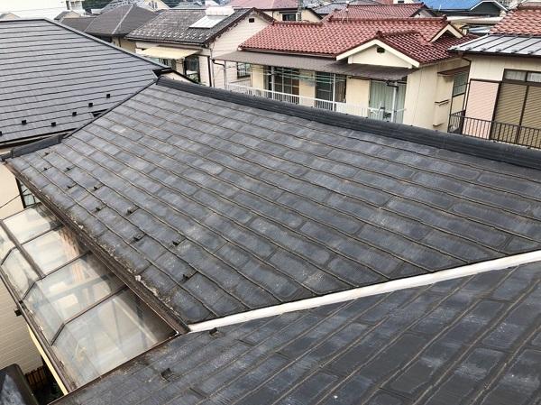 東京都東大和市 E様邸 屋根塗装 施工前 現場調査では何をするのか カビや苔が繁殖する理由