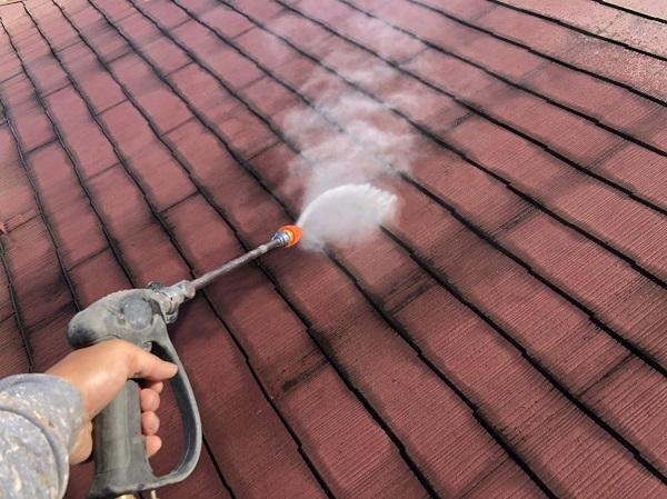 東京都清瀬市 アパート 外壁塗装・屋根塗装 下地処理の重要性 高圧洗浄 (2)