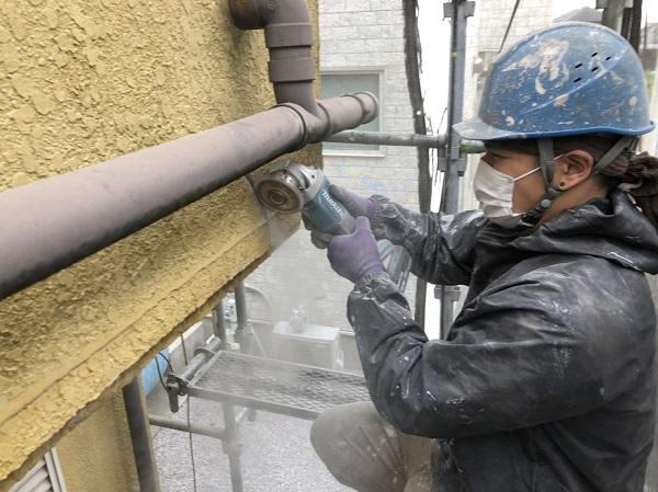 東京都東大和市 M様邸 外壁塗装・付帯部塗装 クラックの種類 構造クラックは緊急性が高いです。