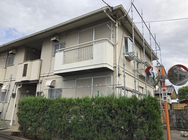東京都清瀬市 アパート 外壁塗装・屋根塗装 劣化症状 足場設置の3つの目的 (2)