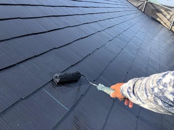 東京都東大和市 E様邸 屋根塗装 関西ペイント アレスクールシーラー RSルーフ2液F (4)