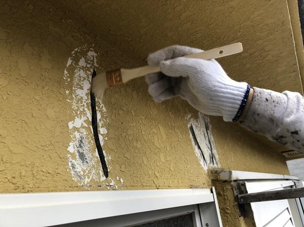 東京都東大和市 M様邸 外壁塗装・付帯部塗装 クラック補修 シーリング、左官による補修 (4)