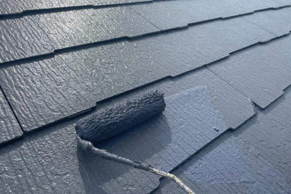 東大和市 屋根・外壁塗装工事 ケレン・屋根下塗り N様